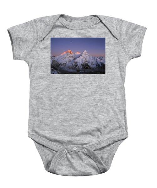 Moon Over Mount Everest Summit Baby Onesie