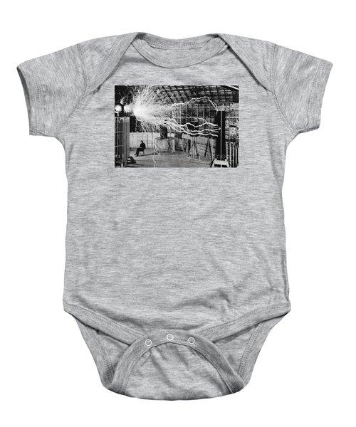 Nikola Tesla Serbian-american Inventor Baby Onesie