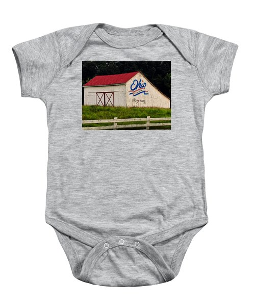Ohio Bicentennial Barn Baby Onesie