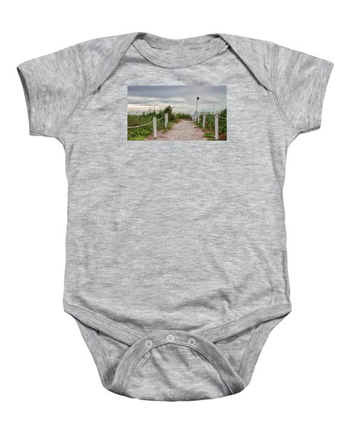 Pathway To The Beach Baby Onesie