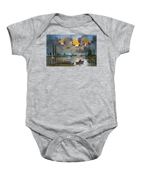 River Yare On The Broads Baby Onesie