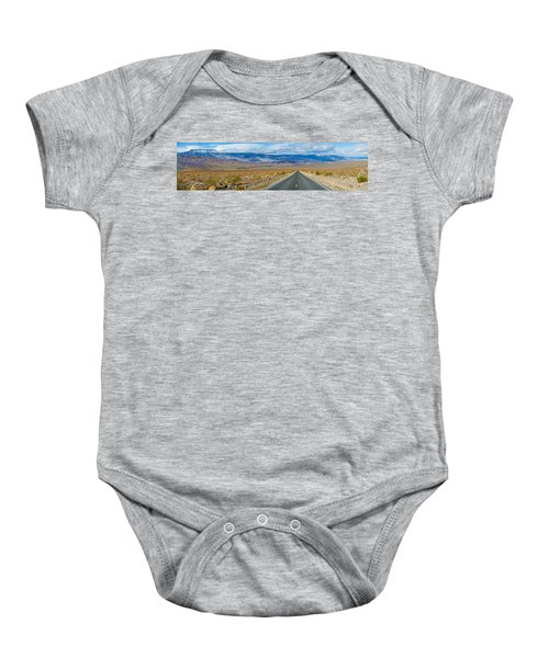 Road Passing Through A Desert, Death Baby Onesie by Panoramic Images