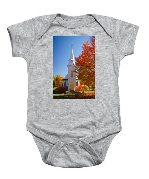 St Matthew's In Autumn Splendor Baby Onesie