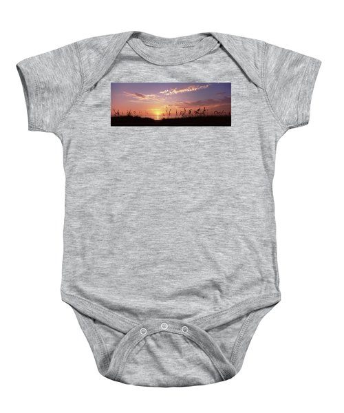 Sunset Over The Sea, Venice Beach Baby Onesie by Panoramic Images