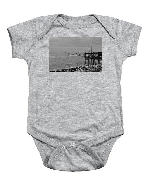 Trabocco On The Coast Of Italy  Baby Onesie