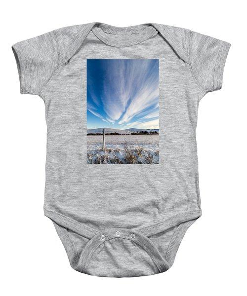 Under Wyoming Skies Baby Onesie