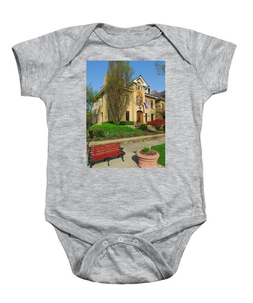 D47l-14 Victorian Village Photo Baby Onesie