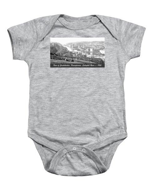View Of Conshohocken Pennsylvania C 1900 Baby Onesie