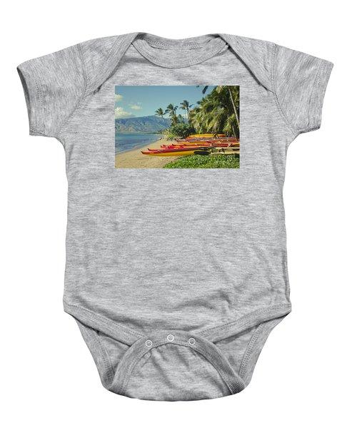 Kenolio Beach Sugar Beach Kihei Maui Hawaii  Baby Onesie