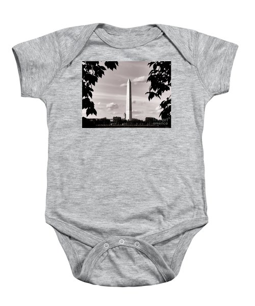 Majestic Washington Monument Baby Onesie