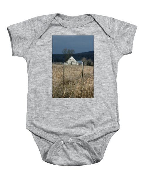 Winter Barn Baby Onesie