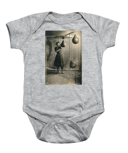 Woman Boxing Workout Baby Onesie