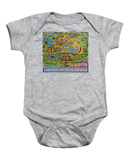 1971 Original Map Of The Magic Kingdom Baby Onesie