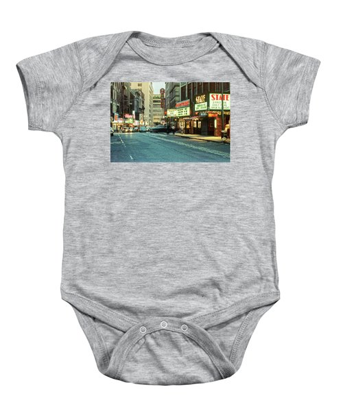 1980s Combat Zone Adult Entertainment Baby Onesie
