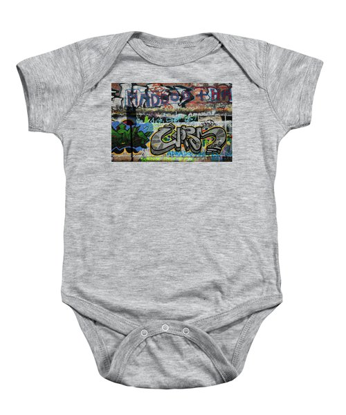 Artistic Graffiti On The U2 Wall Baby Onesie by Panoramic Images