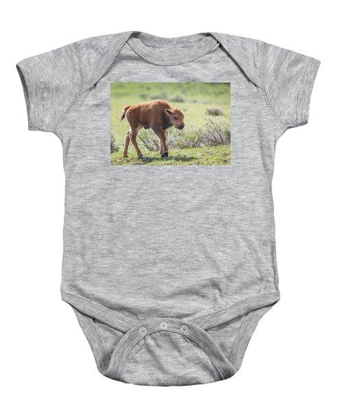 Bison Calf Baby Onesie