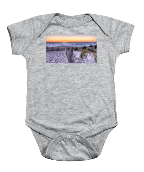 Dewey Beach Sunrise Baby Onesie
