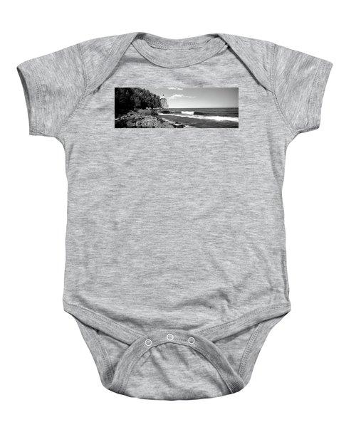 Lighthouse On A Cliff, Split Rock Baby Onesie