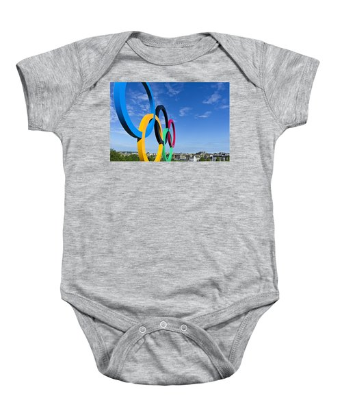 2012 Olympic Rings Over Edinburgh Baby Onesie