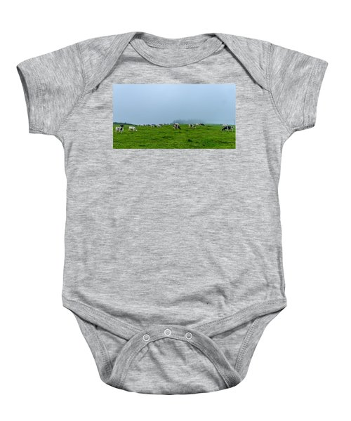 Cows In The Field Baby Onesie