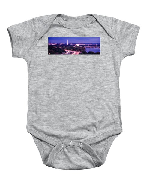 High Angle View Of A Cityscape Baby Onesie
