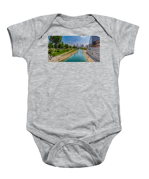 Indianapolis Skyline From The Canal Baby Onesie