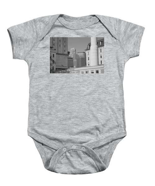 Baby Onesie featuring the photograph Minneapolis by Frank Romeo