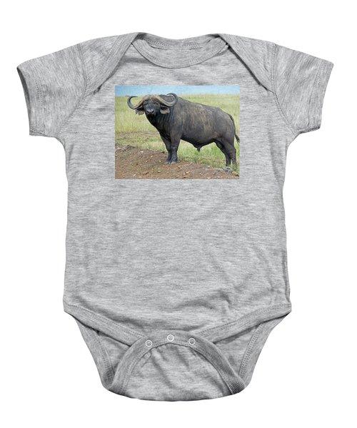 Cape Buffalo Baby Onesie