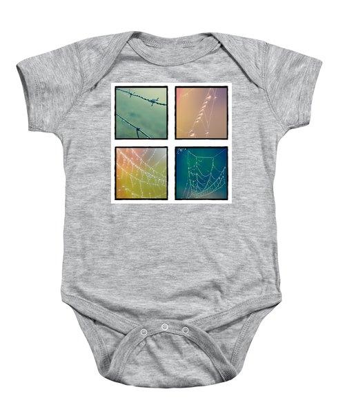 4 Color Web Droplets Baby Onesie