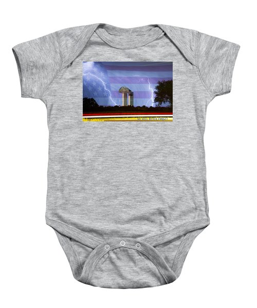 9-11 We Will Never Forget 2011 Poster Baby Onesie