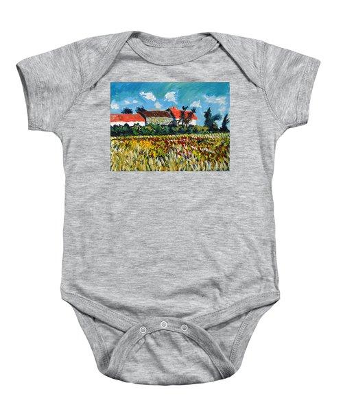 A Field In France Baby Onesie