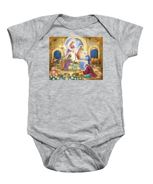 A Glorious Nativity Baby Onesie
