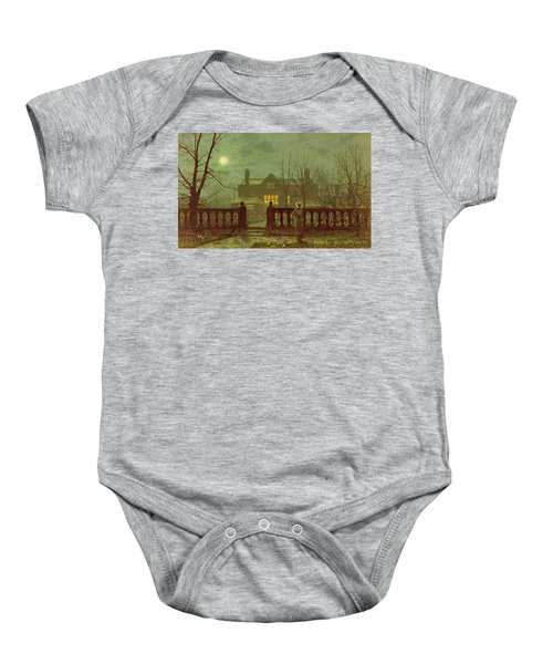A Lady In A Garden By Moonlight Baby Onesie