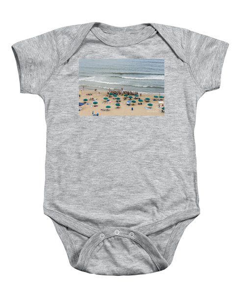 A Lifeguard Gives A Safety Briefing To Beachgoers In Ocean City Maryland Baby Onesie