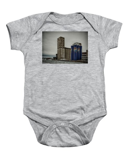 A Tall Blue Six-pack Baby Onesie