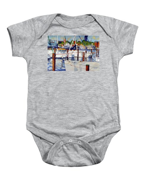 A View From The Pier Baby Onesie