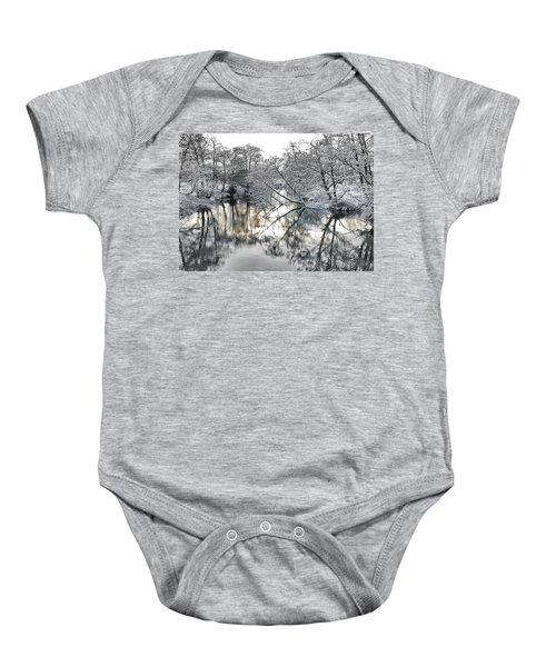 A Winter Scene Baby Onesie