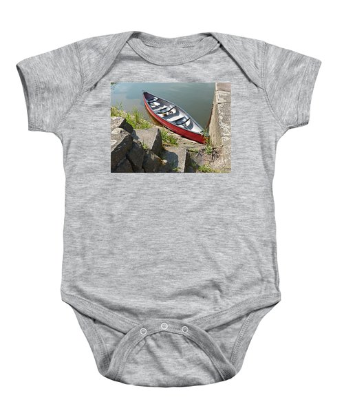Abandoned Boat At The Quay Baby Onesie