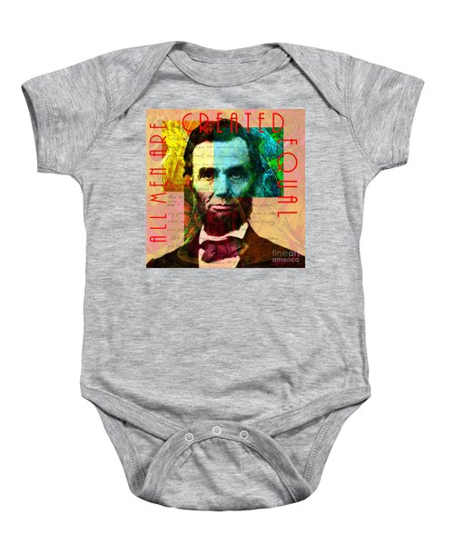 Abraham Lincoln All Men Are Created Equal 2014020502 Baby Onesie