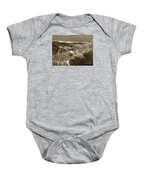 Aerial  Of Monterey Calif. Oct. 25 1934 Baby Onesie