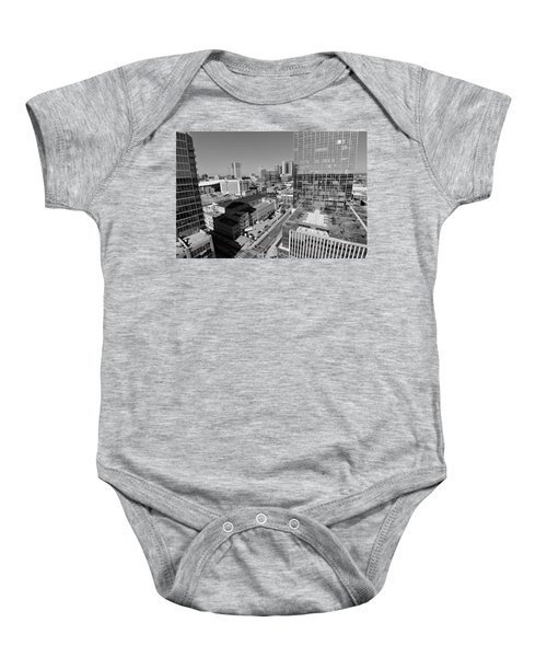 Aerial Photography Downtown Nashville Baby Onesie by Dan Sproul