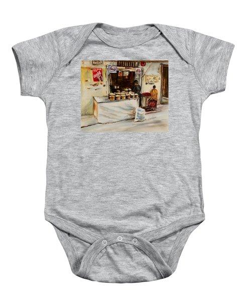 African Corner Store Baby Onesie