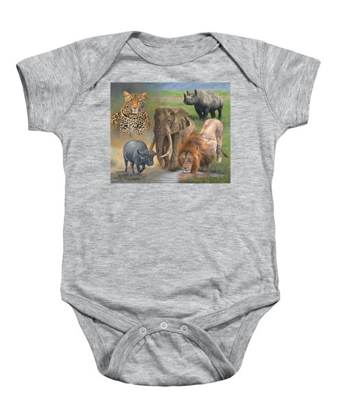 Africa's Big Five Baby Onesie by David Stribbling