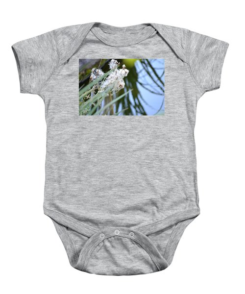 All The World Is Fluff And Posture Baby Onesie