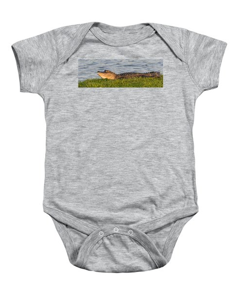 Alligator Smile Baby Onesie