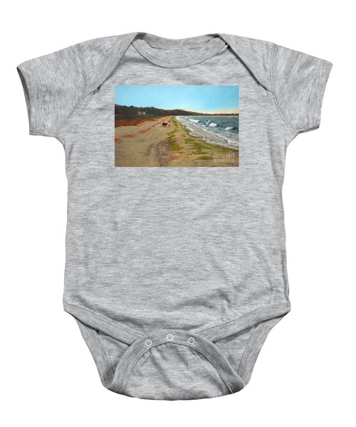 Along The Shore In Hyde Hole Beach Rhode Island Baby Onesie