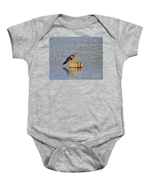 American Anhinga Angler Baby Onesie