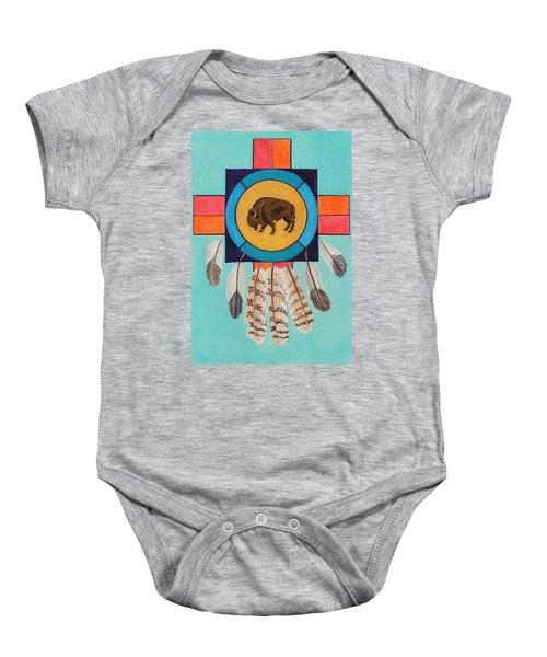American Bison Dreamcatcher Baby Onesie