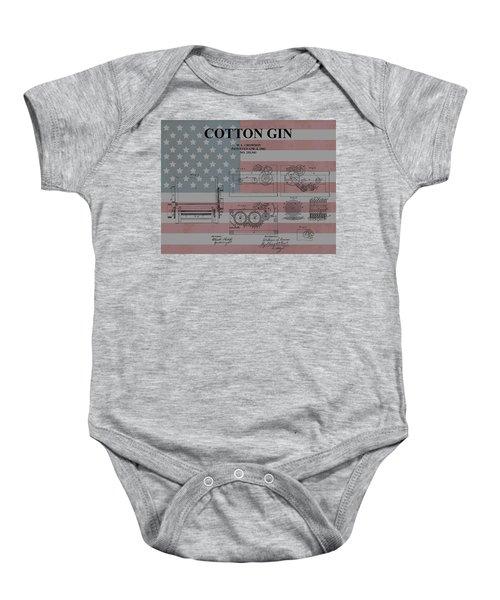 American Cotton Gin Patent Baby Onesie