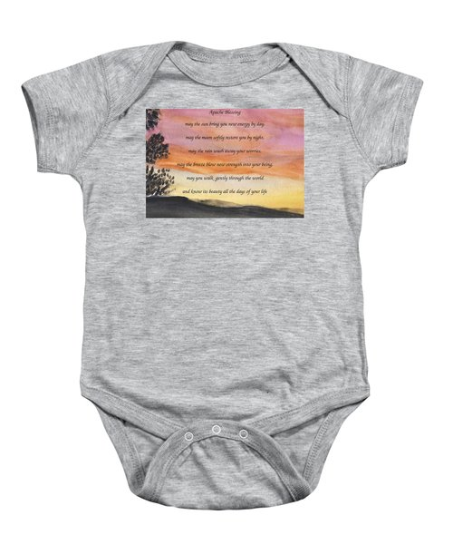 Apache Blessing With Sunset Baby Onesie